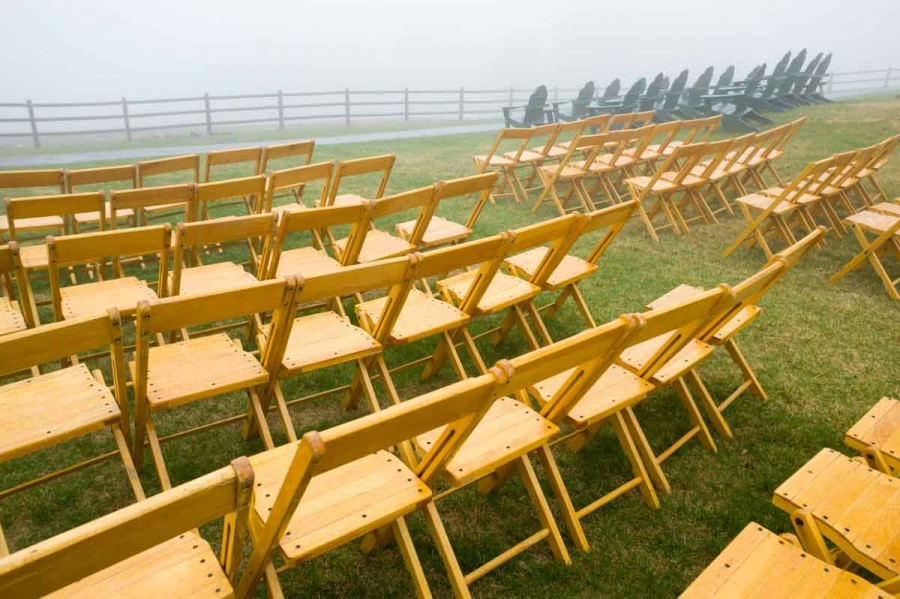 Wedding Chairs in Rainy Weather