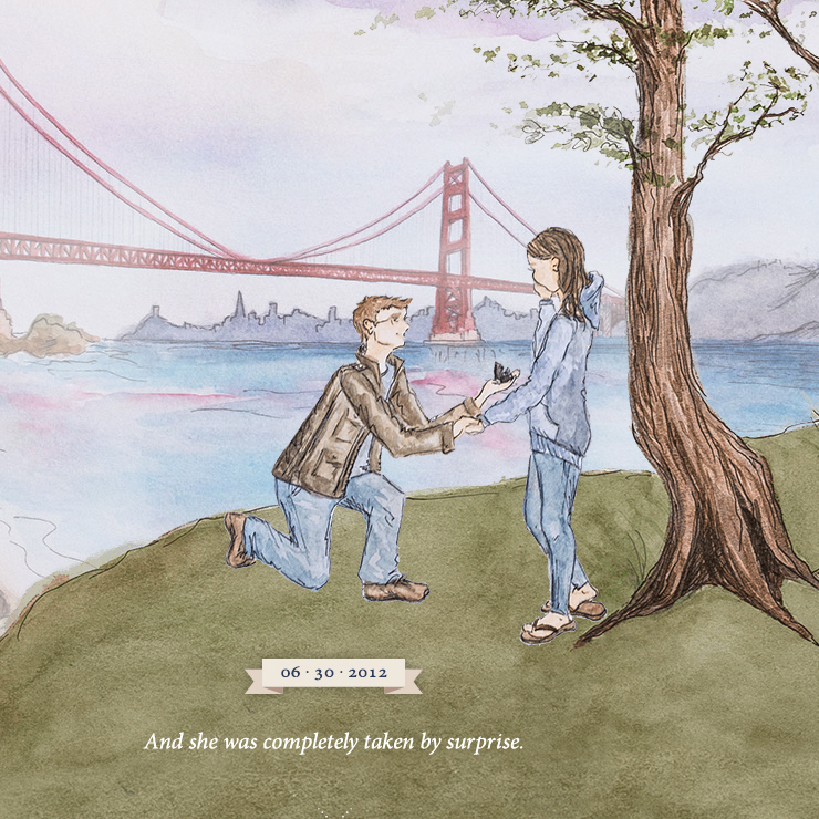 Julia and Brian's 'how we met' story included Brian's romantic proposal. Image: brianlovesjulia