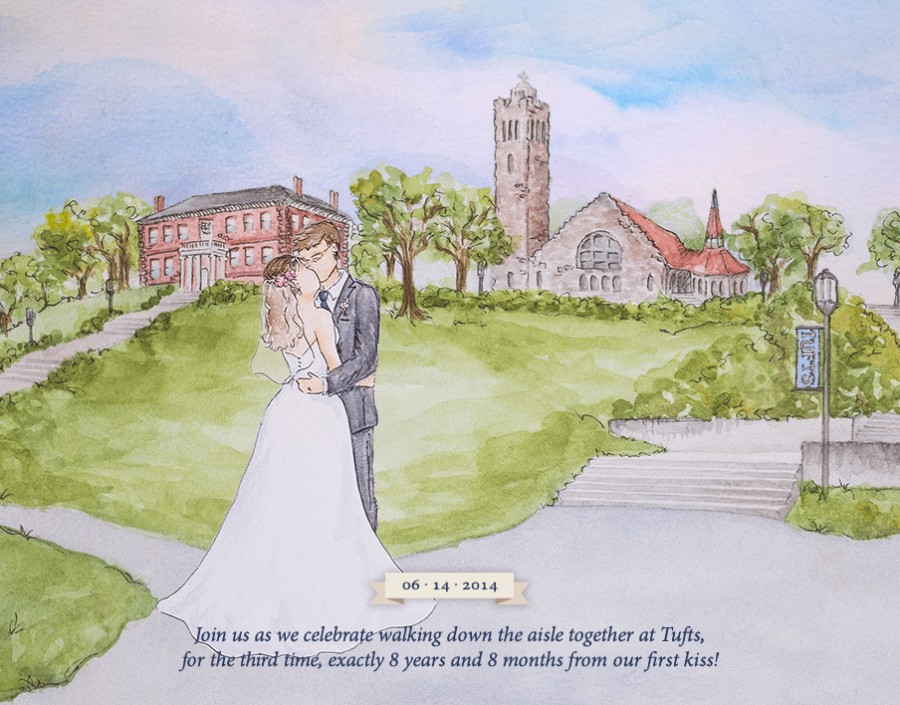 The sweet ending to Julia and Brian's visual story on their wedding website. Image: brianlovesjulia