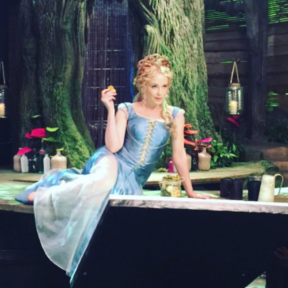Kylie Minogue on the set of Galavant. Image: Kylie Minogue via Instagram