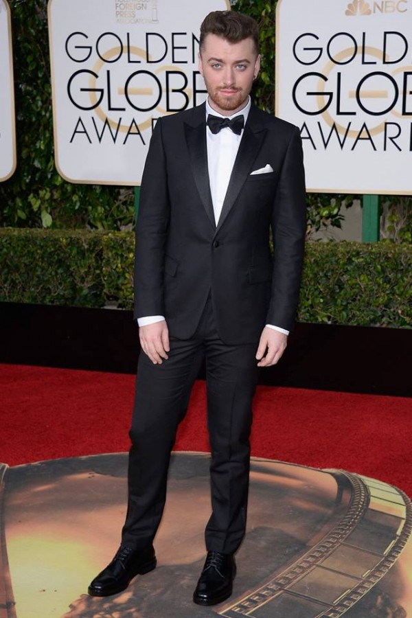 Some inspiration for the grooms: Sam Smith looking handsome in a classic black tuxedo by Dior Homme. Image: Kevork Djansezian/NBC/NBCU Photo Bank/Getty Images via Today Show
