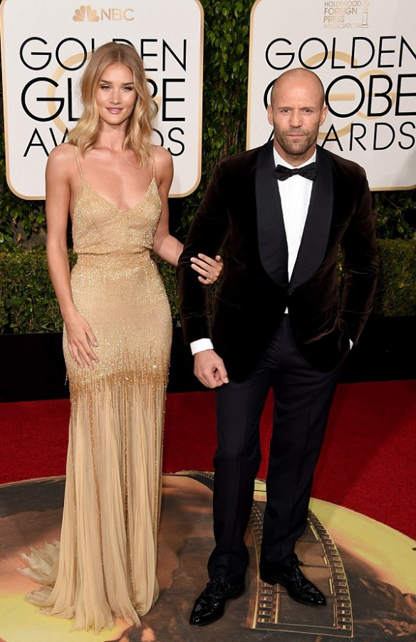 The happy couple posed for photographs at the Golden Globe awards Image Getty Images via Daily Mail