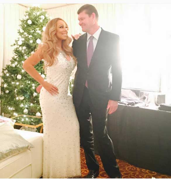 A vision of love: Mariah and her new fiance, James Packer. Image: Mariah Carey via Facebook
