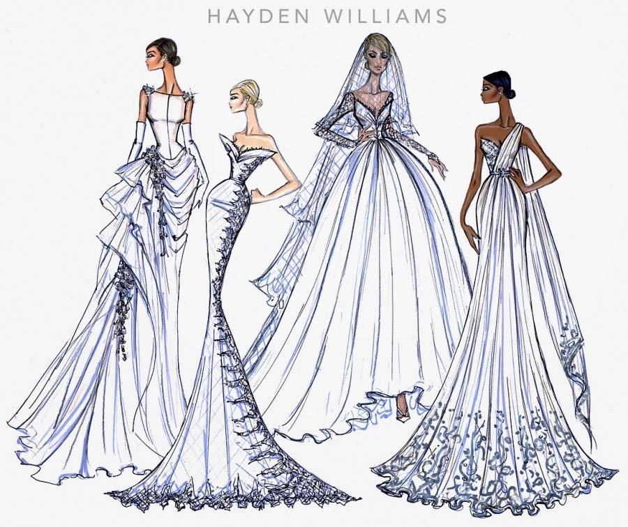 bridal illustrations to inspire wedding looks