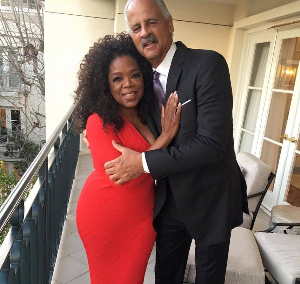 Oprah and Stedman. Image: Oprah Winfrey via Facebook