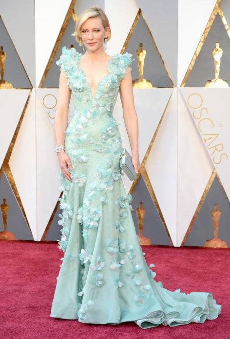 Cate Blanchett in Givenchy. Image Harper'z Bazaar via Facebook