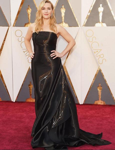 Kate Winslet wearing Ralph Lauren. Image Ralph Lauren via Instagram