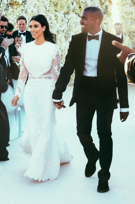 Kim Kardashian Givenchy wedding dress