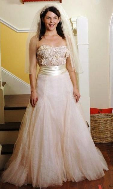 Lorelai Gilmore wedding dress Gilmore Girls