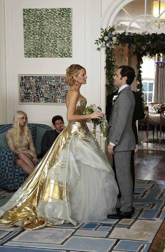 Serena van der Woodsen wedding dress from Gossip Girl series finale