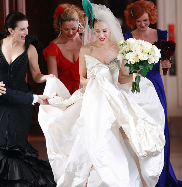 Carrie Bradshaw wedding dress sexy and the city movie