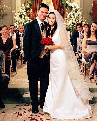 Monica and Chandler wedding friends
