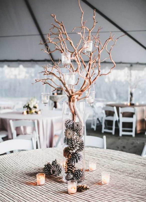 stick centrepiece wedding