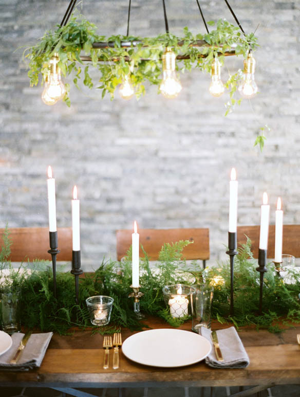 fern centrepieces wedding