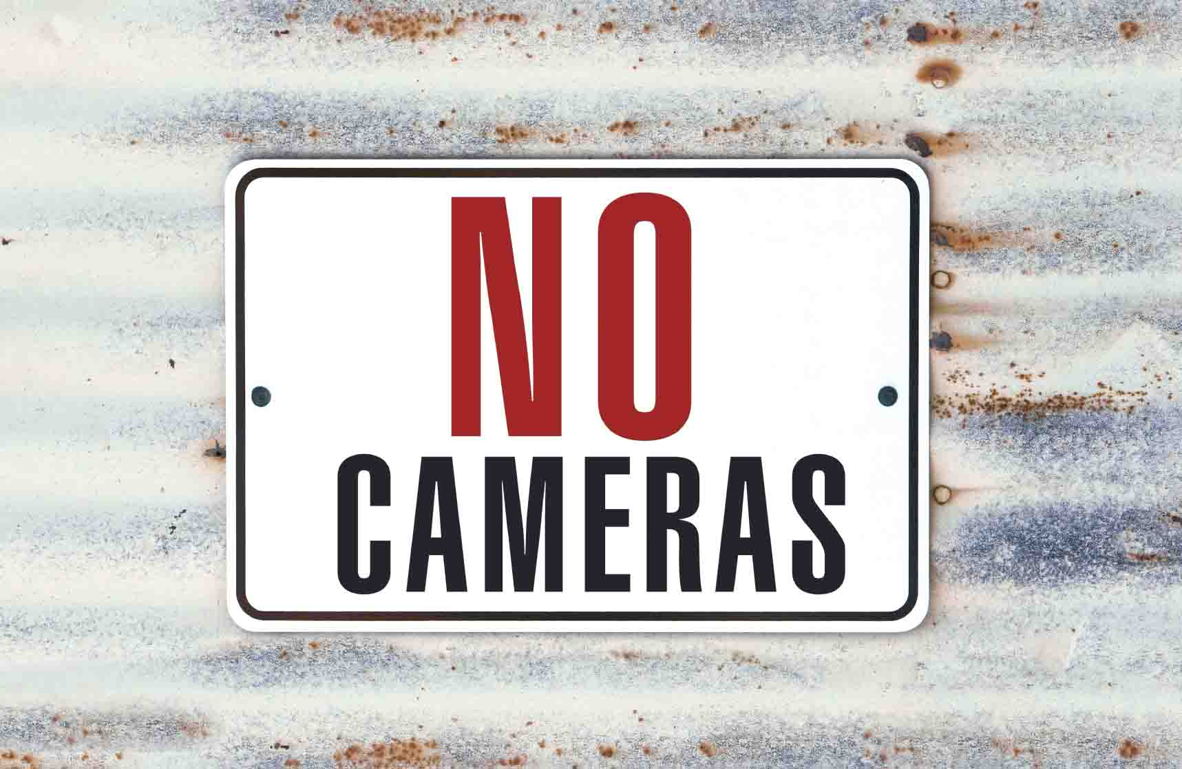 no photos during wedding ceremony