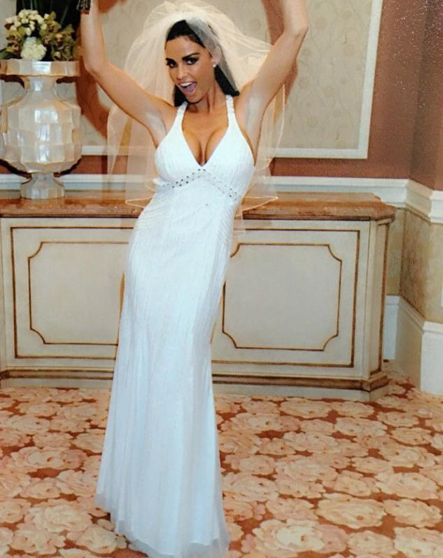 c2fe6fd4075 Easy Weddings Katie Price 1. Katie Price in her wedding gown ...
